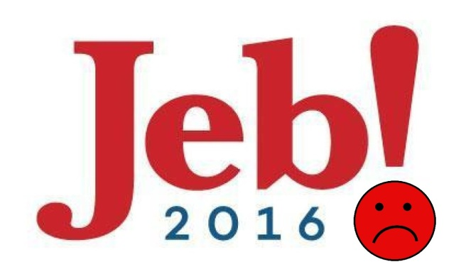 Even Jeb Bush's logo is sad.