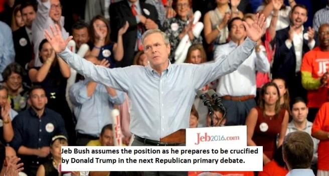 Jeb Bush Crucified