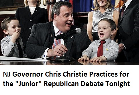 "New Jersey Lt. Governor Kim Guadagno, standing, left, Gov. Chris Christie seated center, Dawn and Jon Koczon, right, laugh Wednesday, April 6, 2011, in Trenton, N.J., at 5-year-old fraternal twin,  Jesse Koczon as twin Brandon, left, looks on after Christie signed a proclamation making Jesse the state's honorary governor for the day and Brandon honorary lieutenant governor. Jesse was shown complaining on a YouTube clip that he can't be governor of New Jersey. On the video, Jesse's mother, Dawn Koczon, asked him why he was upset. Jesse replied, ""Cause everyone tells me I'm too small to be the governor of New Jersey."" Christie responded on Twitter: ""Don't worry Jesse, people gave plenty of reasons why I couldn't be Governor, though being too small wasn't one of them.""  (AP Photo/Mel Evans)   Original Filename: Odd Too Small To Be Governor.JPEG-075e4.jpg"