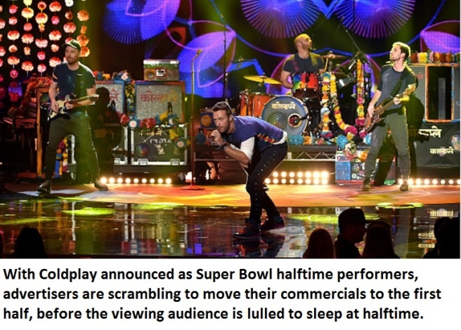 Coldplay to perform at Super Bowl