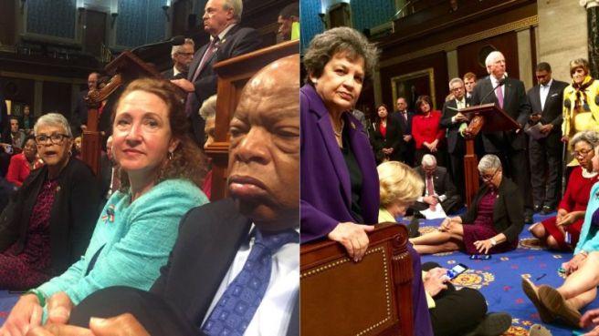 Democrat sit-in