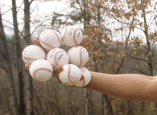 hands-baseballs