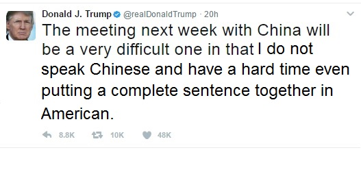 Trump Tweet China