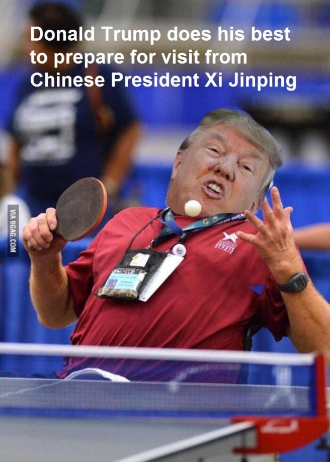 Trump ping pong