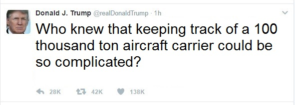 Trump Tweet aircraft carrier