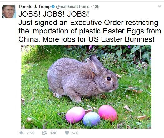 Trump Tweet Easter