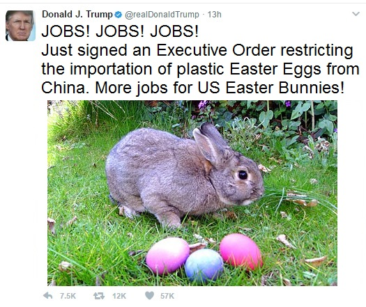 Trump Tweet Easter