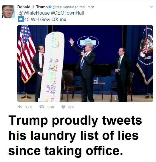Trump Tweet List Lies