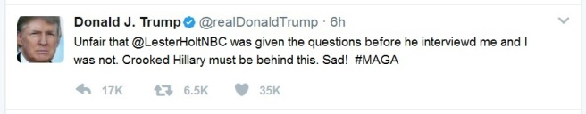 Trump Tweet Holt