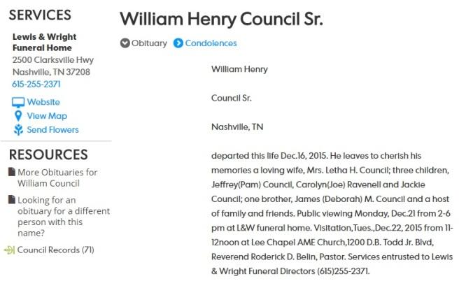 WH council obit