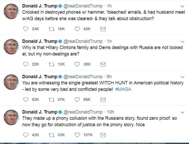 Trump Tweet Clinton Russia