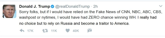 Trump Tweet No Choice