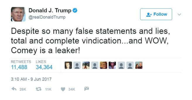 Trump Tweet Vindication