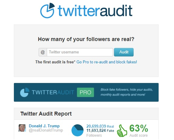 Trump twitter audit