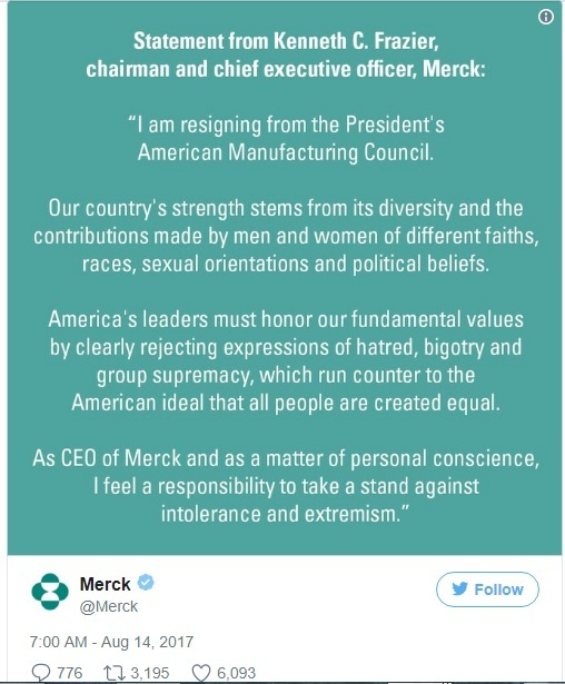 Merck Tweet