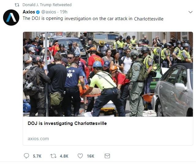 Trump Tweet Charlottesville