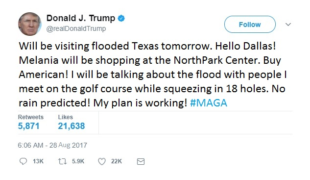 Trump Tweet Dallas