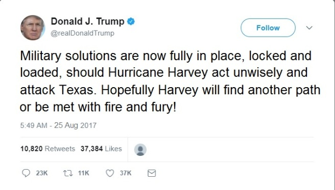 Trump Tweet Harvey