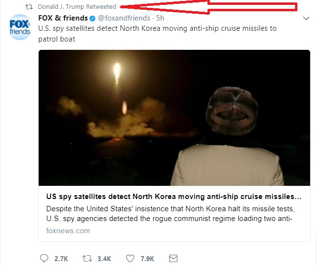 Trump Tweet Korea Missile