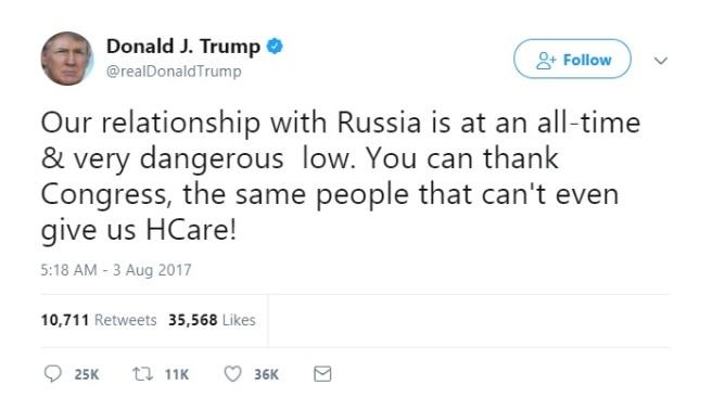 Trump Tweet Russia