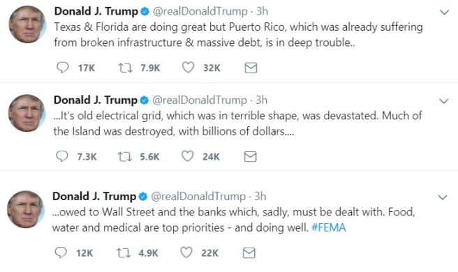 Trump Tweet PR Wall Street