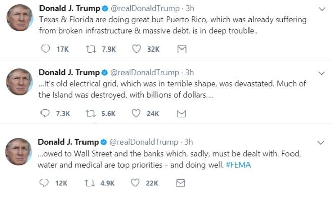 Trump Tweet PR Wall Street