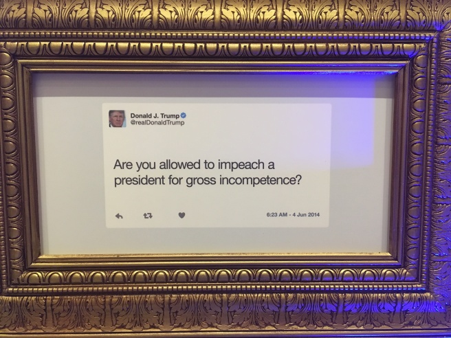 Trump Framed Tweet