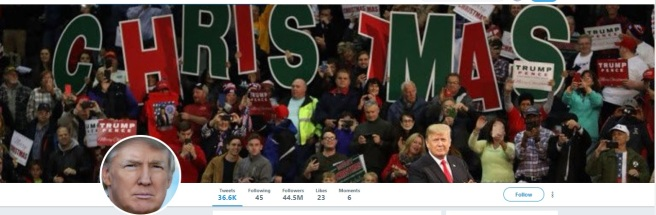 Trump Twitter Home Page Christmas