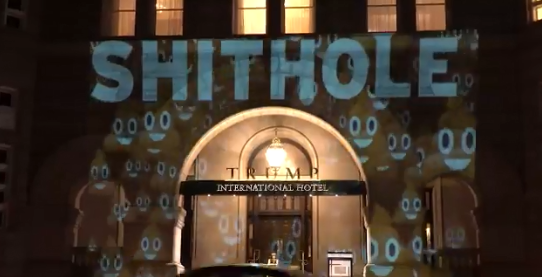 Hotel projections shithole