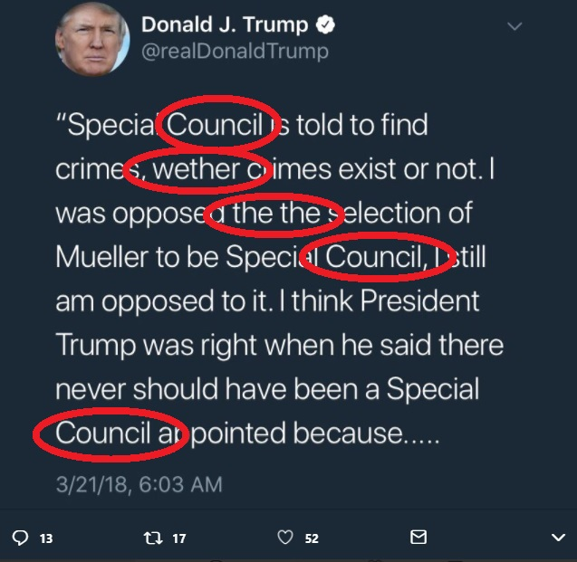 Trump Tweet council Original Blue