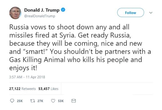 Trump Tweet Russian Missiles