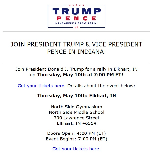 Trump Pence Event