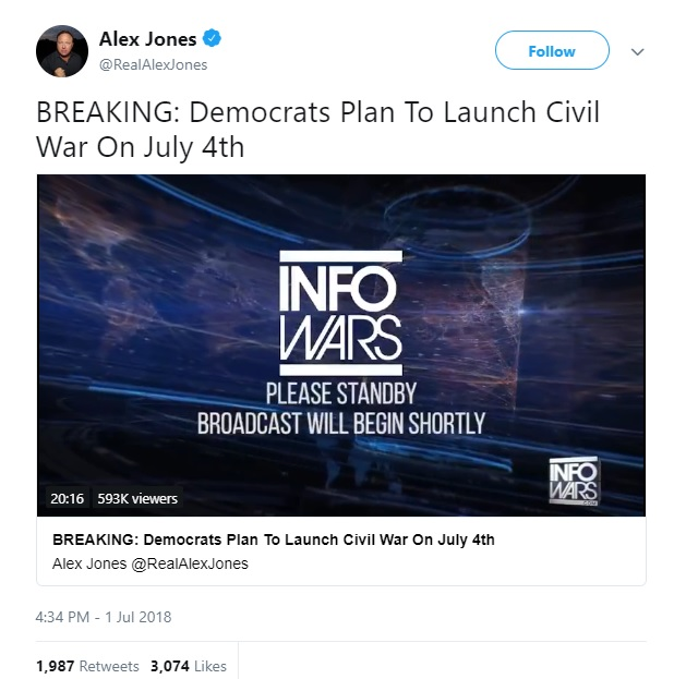 Alex Jones Civil War