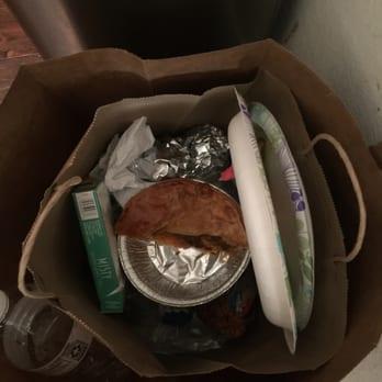 pie in garbage