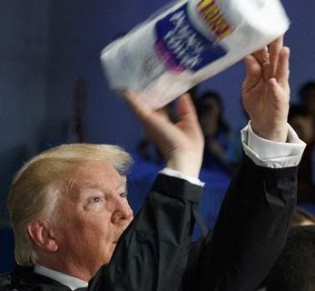 Trump Hurricane Paper Towels