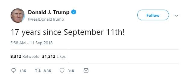 Trump Tweet 9-11