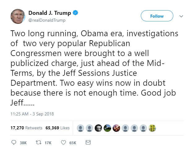 Trump tweet obstruction