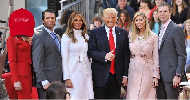 Trump family creepy hat
