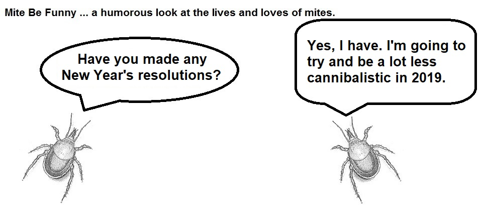Mite Be Funny #98a New Year's Resolution