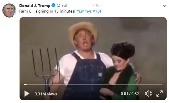 Trump Tweet Farm Bill