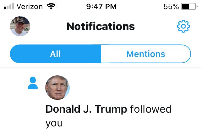 Twitter Follow Trump