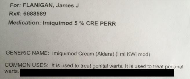 Cream warts