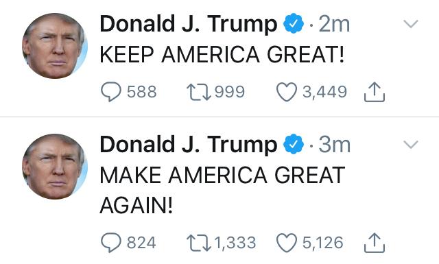 Trump Tweet MAGA KAG