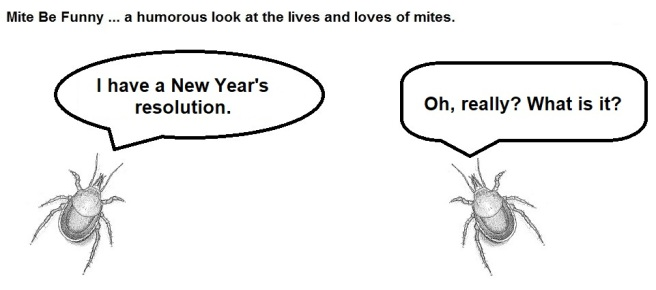 Mite Be Funny #149a New Year's Resolution