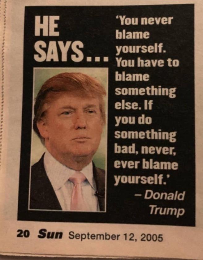 Trump Sun Blame