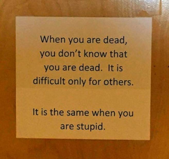 Sign Stupid