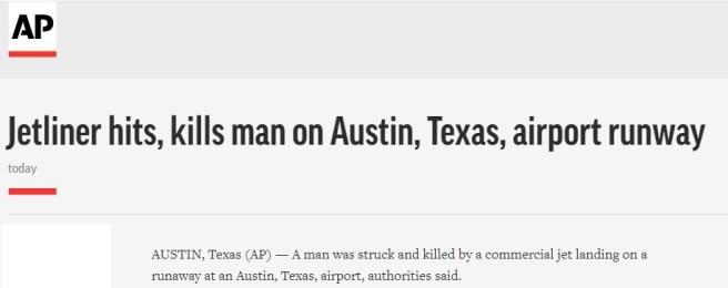 Jet Kills Man