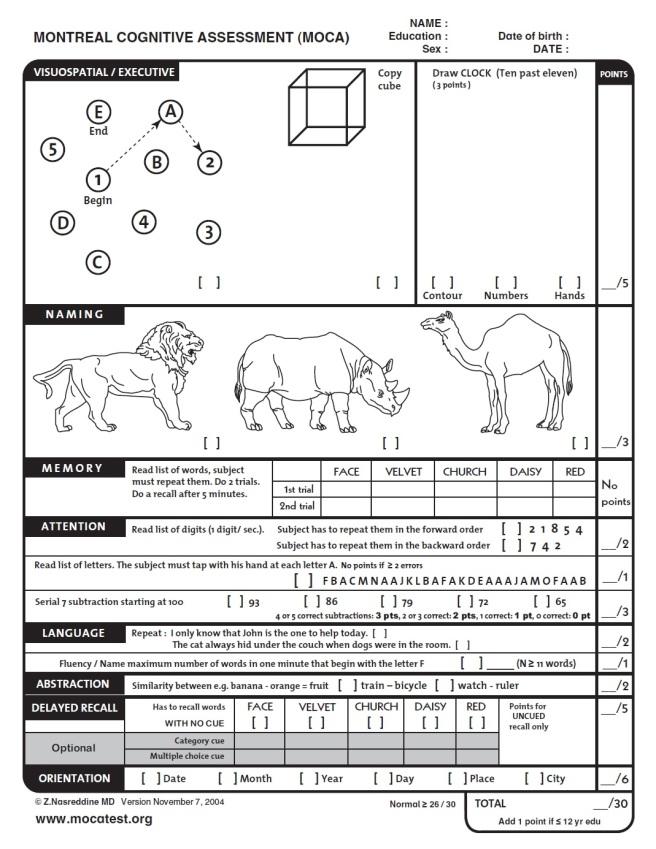 MOCA-Test-English