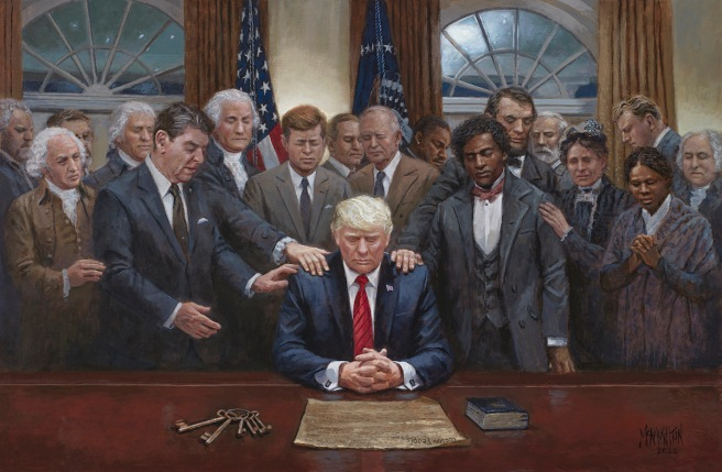 Trump Painting Presidents